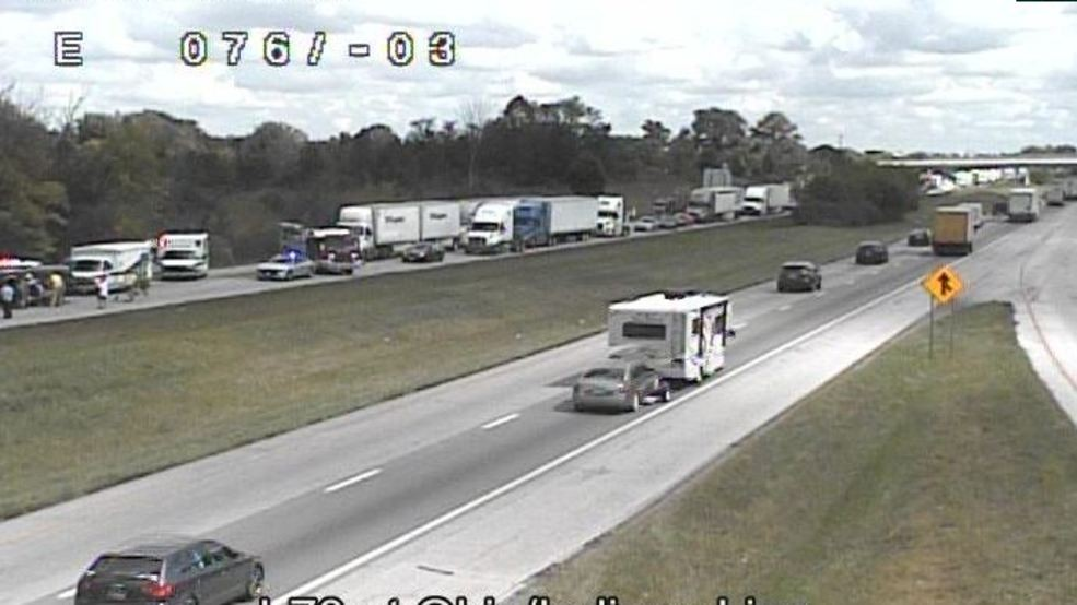 Westbound I-70 lanes closed near Ohio/Indiana state line due
