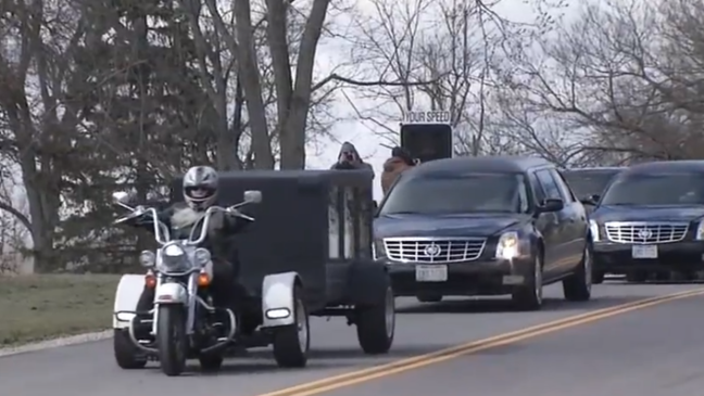 Thousands attend funeral service for Former Outlaws Motorcycle Club