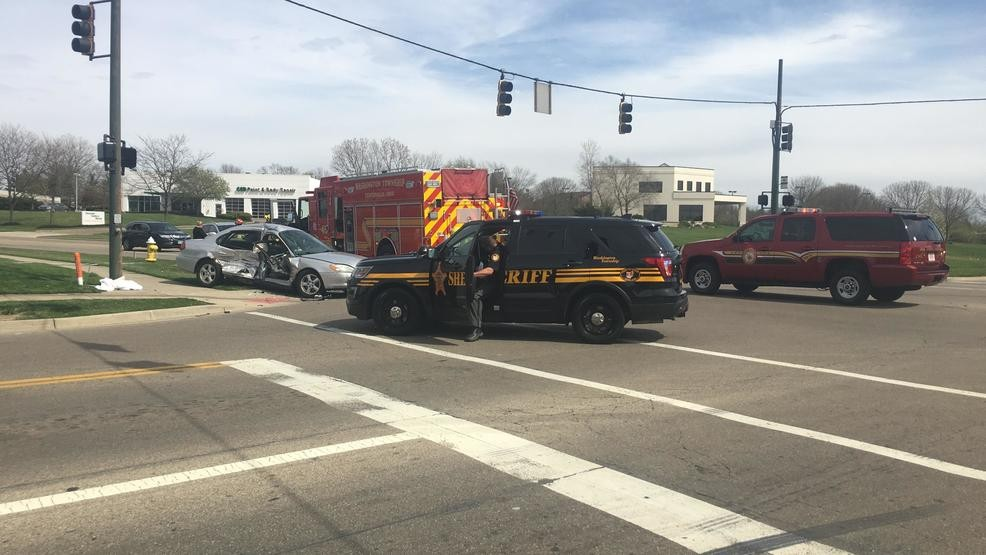Two people taken to the hospital after a two vehicle accident in